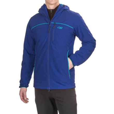 Outdoor Research Razoredge PrimaLoft® Hooded Jacket - Insulated (For Men) in Baltic/Typhoon - Closeouts