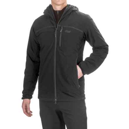 Outdoor Research Razoredge PrimaLoft® Hooded Jacket - Insulated (For Men) in Black/Charcoal - Closeouts