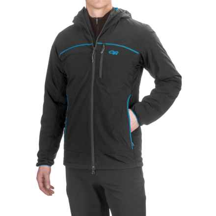 Outdoor Research Razoredge PrimaLoft® Hooded Jacket - Insulated (For Men) in Black/Tahoe - Closeouts