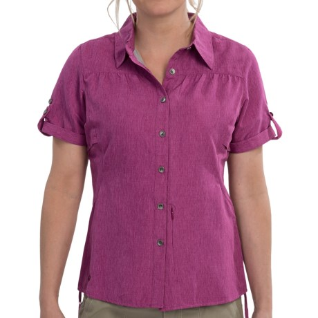 Outdoor Research Reflection Shirt - UPF 50+, Short Sleeve (For Women) in Aster