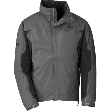 Outdoor Research Revel Jacket - Waterproof (For Men) in Pewter/Charcoal