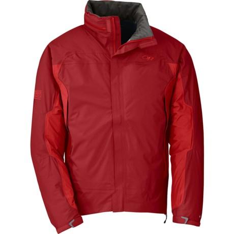 Outdoor Research Revel Jacket - Waterproof (For Men) in Redwood/Hot Sauce