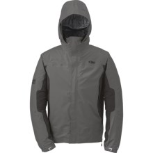 Outdoor Research Revel Trio Jacket - Waterproof, Insulated, 3-in-1 (For Men) in Pewter/Charcoal/Redwood - Closeouts