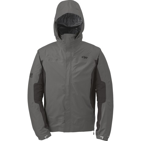 Outdoor Research Revel Trio Jacket - Waterproof, Insulated, 3-in-1 (For Men) in Pewter/Charcoal/Redwood