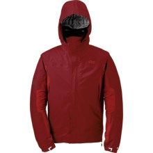 Outdoor Research Revel Trio Jacket - Waterproof, Insulated, 3-in-1 (For Men) in Redwood/Hot Sauce/Pewter - Closeouts