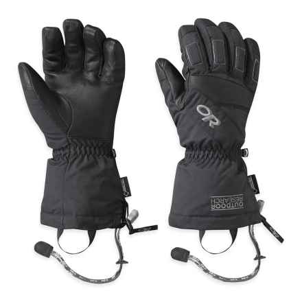 Outdoor Research Ridgeline Gore-Tex® Gloves - Waterproof, Insulated (For Men) in Black - Closeouts