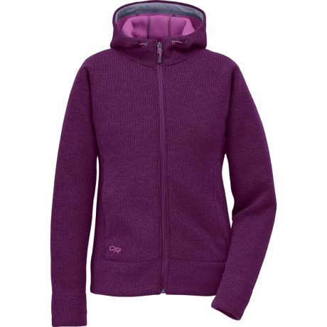 Outdoor Research Salida Sweater - Zip Front (For Women) in Orchid