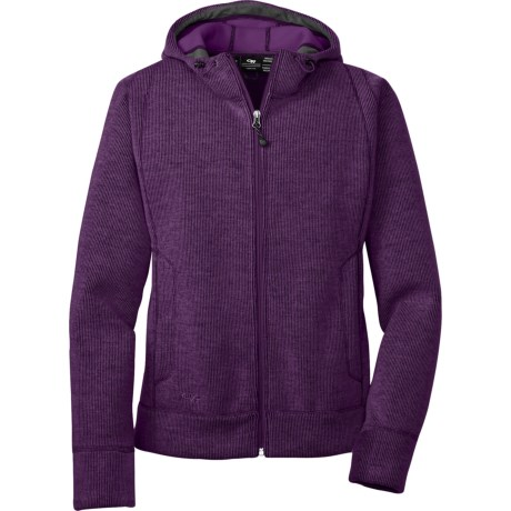 Outdoor Research Salida Sweater - Zip Front (For Women) in Pewter