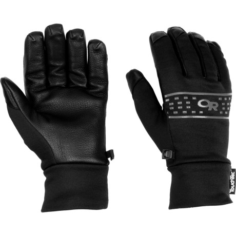 Outdoor Research Sensor Gloves- Touch Screen Compatible (For Men) in Black