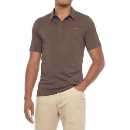 Outdoor Research Sequence Polo Shirt - Zip Neck, Short Sleeve (For Men) in Earth/Diablo - Closeouts