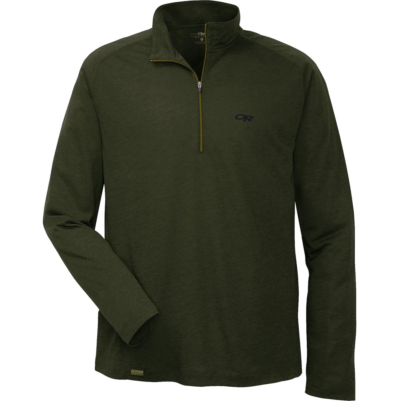 Outdoor research sequence shirt merino wool blend zip for Merino wool shirt long sleeve