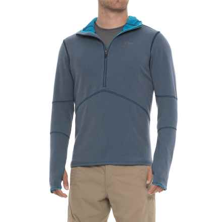 Outdoor Research Shiftup Hoodie - Zip Neck (For Men) in Night/Tahoe - Closeouts