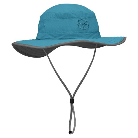 Outdoor Research Solar Roller Hat (For Women) in Turquoise/Dark Grey