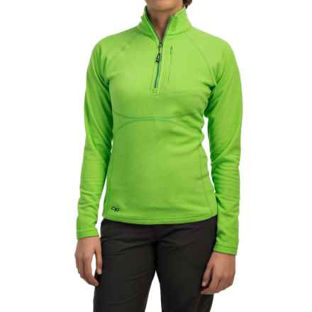 Outdoor Research Soleil Fleece Pullover Shirt - Zip Neck, Long Sleeve (For Women) in Apple - Closeouts