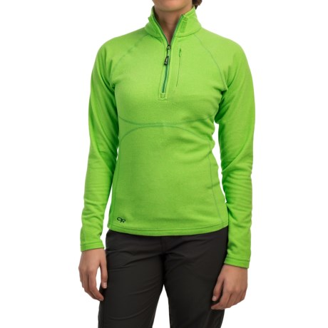 Outdoor Research Soleil Fleece Pullover Shirt Zip Neck Long Sleeve For Women