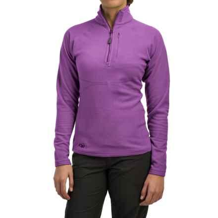 Outdoor Research Soleil Fleece Pullover Shirt - Zip Neck, Long Sleeve (For Women) in Crocus - Closeouts