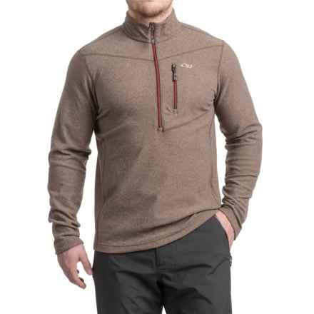 Outdoor Research Soleil Fleece Shirt - Zip Neck (For Men) in Earth - Closeouts