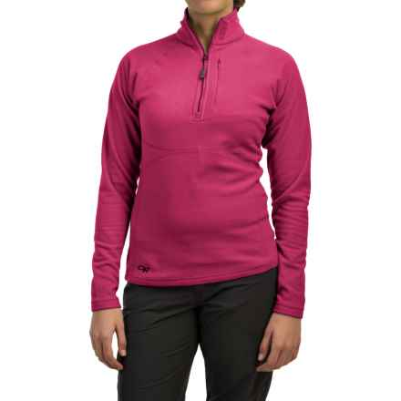 Outdoor Research Soleil Fleece Shirt - Zip Neck, Long Sleeve (For Women) in Sangria - Closeouts