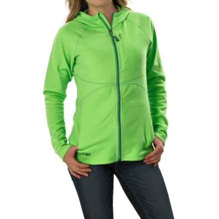 Outdoor Research Soleil Hoodie Sweatshirt - Trim Fit, Full Zip (For Women) in Apple - Closeouts