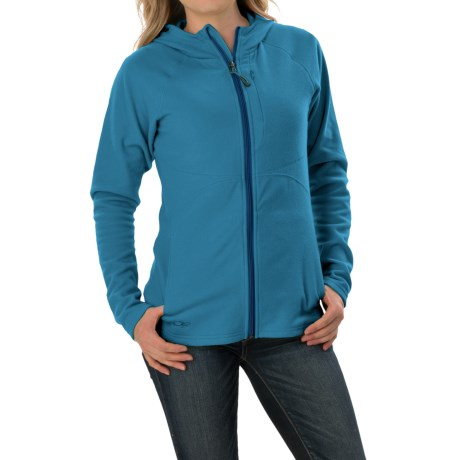 Outdoor Research Soleil Hoodie Sweatshirt - Trim Fit, Full Zip (For Women) in Cornflower