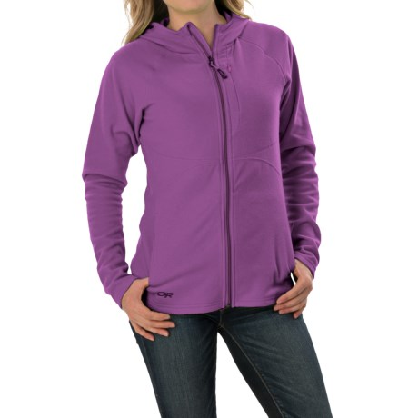 Outdoor Research Soleil Hoodie Sweatshirt Trim Fit, Full Zip (For Women)