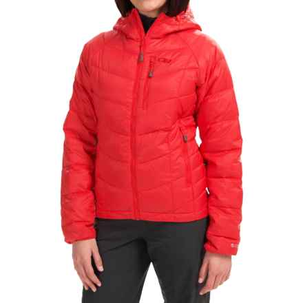 Outdoor Research Sonata Down Hooded Jacket - 650 Fill Power (For Women) in Flame - Closeouts