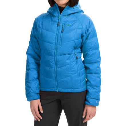 Outdoor Research Sonata Down Hooded Jacket - 650 Fill Power (For Women) in Hydro/Rio - Closeouts