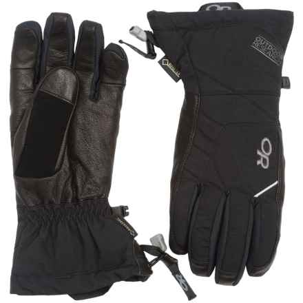 Outdoor Research Southback Gore-Tex® Gloves - Waterproof, Insulated (For Men) in Black - Closeouts
