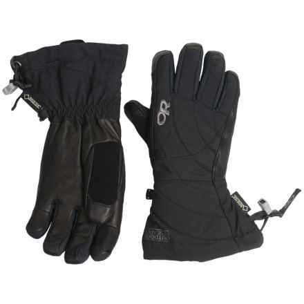 Outdoor Research Southback Gore-Tex® Gloves - Waterproof, Insulated (For Women) in Black - Closeouts