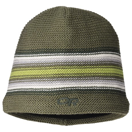 Outdoor Research Spitsbergen Beanie Hat - Windstopper® (For Kids) in Olive/Evergreen