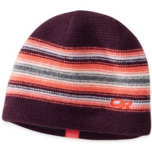 Outdoor Research Spitsbergen Beanie Hat - Windstopper® (For Men and Women) in Pinot/Bahama - Closeouts