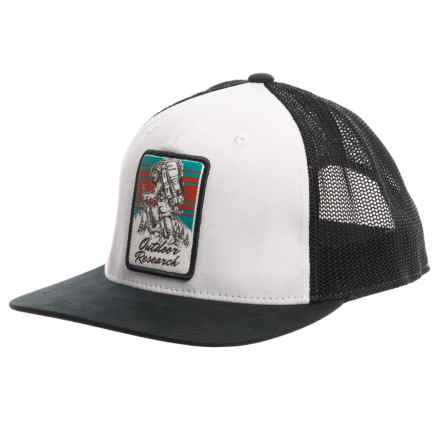 Outdoor Research Squatchin Trucker Hat (For Men) in White/Black - Closeouts