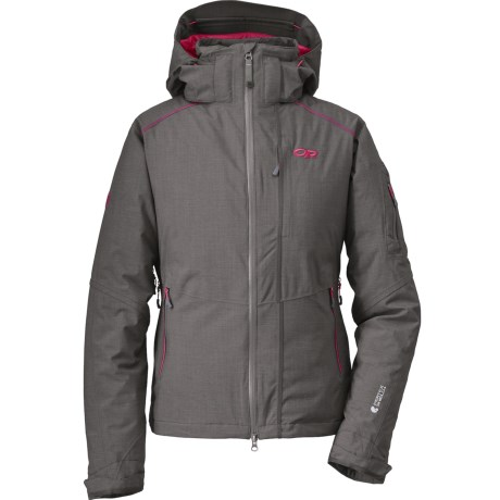 Outdoor Research Stormbound Down Jacket - Waterproof, 650 Fill Power (For Women) in Pewter