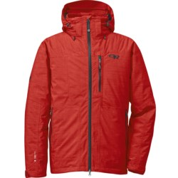 Outdoor Research Stormbound Down Jacket - Waterproof, 650 Fill Power, RECCO® (For Men) in Hot Sauce/Charcoal