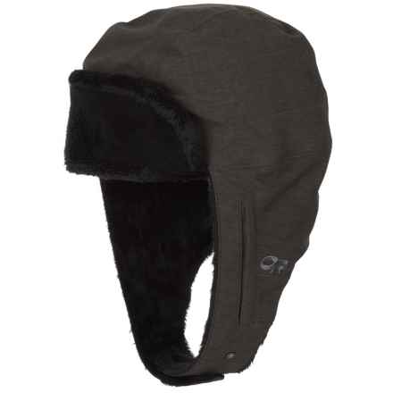 Outdoor Research Stormbound Trapper Hat - Waterproof (For Women) in Charcoal - Closeouts