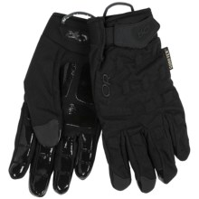 Outdoor Research StormCell Gore-Tex® Gloves - Waterproof (For Men and Women) in All Black - Closeouts