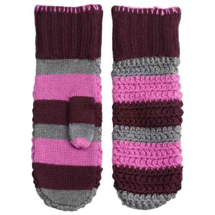 Outdoor Research Sueno Knit Mittens - Merino Wool (For Women) in Orchid/Crocus/Pewter - Closeouts