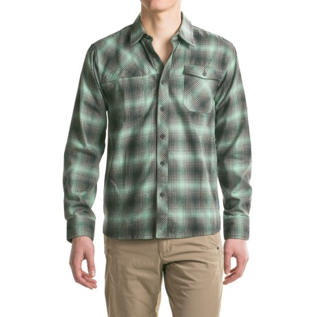 Outdoor Research Tangent Shirt - Long Sleeve (For Men) in Black/Earth