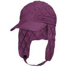 Outdoor Research Transcendent Down Ear Flap Hat - 650 Fill Power (For Men and Women) in Orchid - Closeouts
