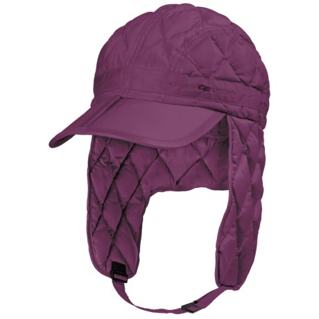 Outdoor Research Transcendent Down Ear Flap Hat - 650 Fill Power (For Men and Women) in Orchid