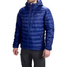 Outdoor Research Transcendent Down Hoodie Jacket - 650 Fill Power (For Men) in Abyss - Closeouts