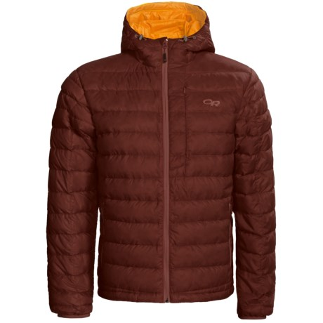 Outdoor Research Transcendent Down Hoodie Jacket - 650 Fill Power (For Men) in Brick