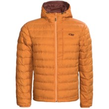 Outdoor Research Transcendent Down Hoodie Jacket - 650 Fill Power (For Men) in Cheddar - Closeouts