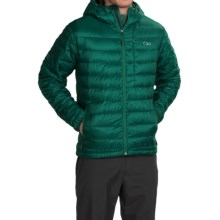 Outdoor Research Transcendent Down Hoodie Jacket - 650 Fill Power (For Men) in Hemlock/Evergreen - Closeouts
