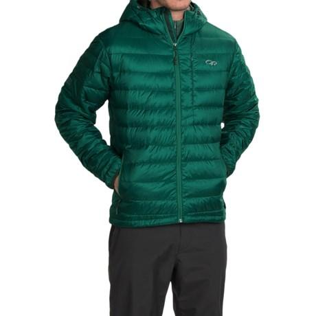 Outdoor Research Transcendent Down Hoodie Jacket - 650 Fill Power (For Men) in Hemlock/Evergreen