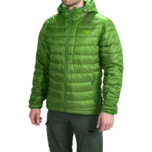 Outdoor Research Transcendent Down Hoodie Jacket - 650 Fill Power (For Men) in Leaf - Closeouts