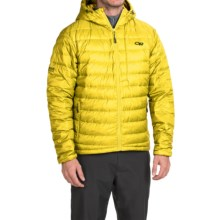 Outdoor Research Transcendent Down Hoodie Jacket - 650 Fill Power (For Men) in Solar - Closeouts