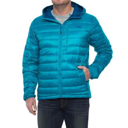 Outdoor Research Transcendent Down Hoodie Jacket - 650 Fill Power (For Men) in Tahoe/Baltic - Closeouts