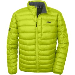 Outdoor Research Transcendent Down Jacket - 650+ Fill Power (For Men) in Lemongrass/Evergreen