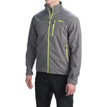Outdoor Research Transfer Jacket (For Men) in Pewter/Lemongrass - Closeouts